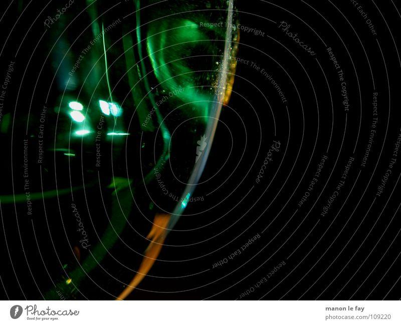 Gesicht aus Glas Reflexion & Spiegelung schwarz grün Schwung geschwungen Kunst obskur geschmackvoll rund blau Linie orange Surrealismus Fantasygeschichte