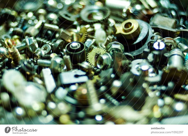 Kleinteile Schraube Mutter Material Teile u. Stücke klein Metall Metallwaren Eisen Stahl Reparatur Elektronik elektronisch Computer Schreibstift Vorrat Zahnrad