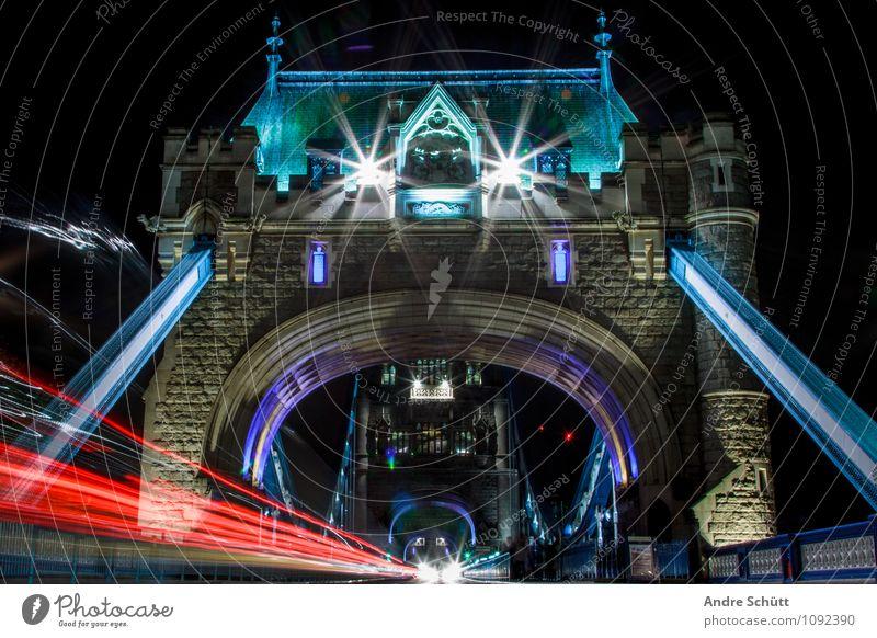 London Ferien & Urlaub & Reisen Stadt alt Freude Stil Kunst Lifestyle gefährlich Brücke Coolness historisch trendy Denkmal Wahrzeichen Verkehrswege Stress