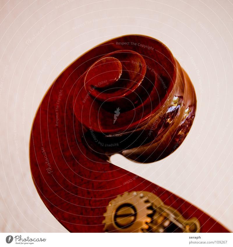 Kontrabass alt Holz Musik Rockmusik Tradition Spirale Musikinstrument edel Schraube Klang Zahnrad Orchester Nahaufnahme nobel Rockabilly Mechanik
