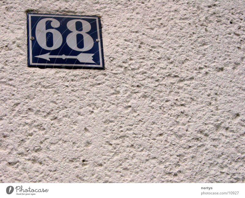 <___68 Hausnummer Ziffern & Zahlen Wand Sechzig