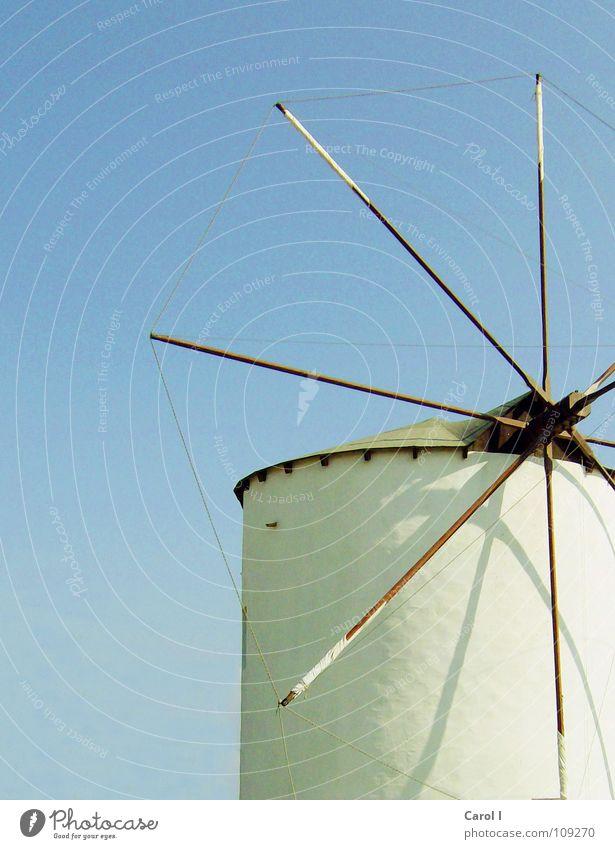 Energymaker alt Himmel blau Sommer Ferien & Urlaub & Reisen Wand Holz Luft Kunst Wind Industrie Kreis Energiewirtschaft Elektrizität rund Dach