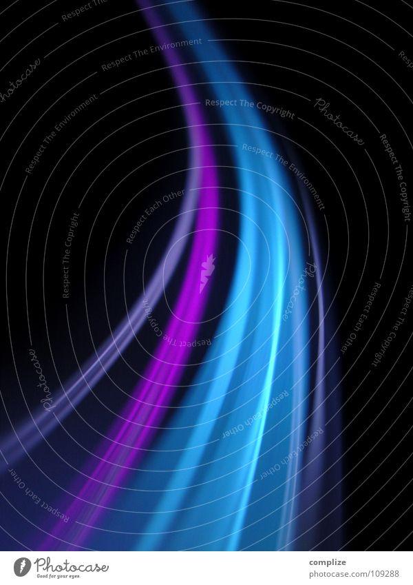 lightwaves 11 blau grün Farbe schwarz Straße Beleuchtung Lampe hell Hintergrundbild Kunst Musik glänzend Verkehr Geschwindigkeit Kommunizieren Zukunft