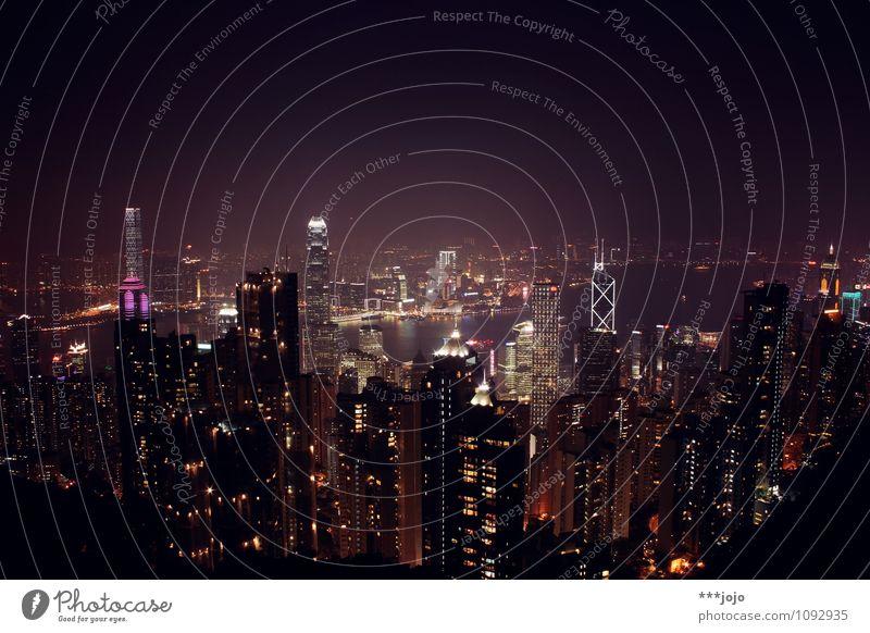 hong | kong. Ferien & Urlaub & Reisen Stadt Meer Reisefotografie Architektur Beleuchtung Gebäude leuchten Hochhaus Aussicht Asien Skyline Wahrzeichen