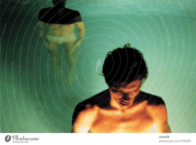 nachtblende Mann Wasser Liebe träumen Paar Wärme Schwimmbad Physik