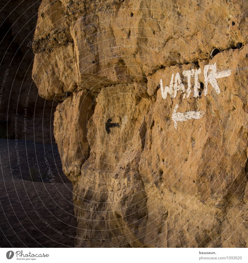 water. Ferien & Urlaub & Reisen Tourismus Sommer Sommerurlaub Strand Meer Schwimmbad Sonne Wetter Schönes Wetter Schlucht Namibia Afrika Felsen Stein Zeichen