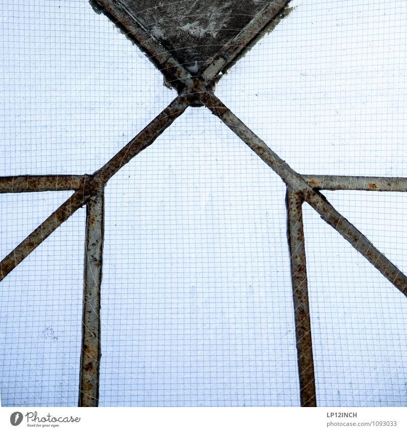 STUDIO TOUR | >X< Haus Fabrik Fenster Dach Glas retro blau Design Symmetrie kariert Dachfenster Linie Farbfoto Innenaufnahme Menschenleer Tag