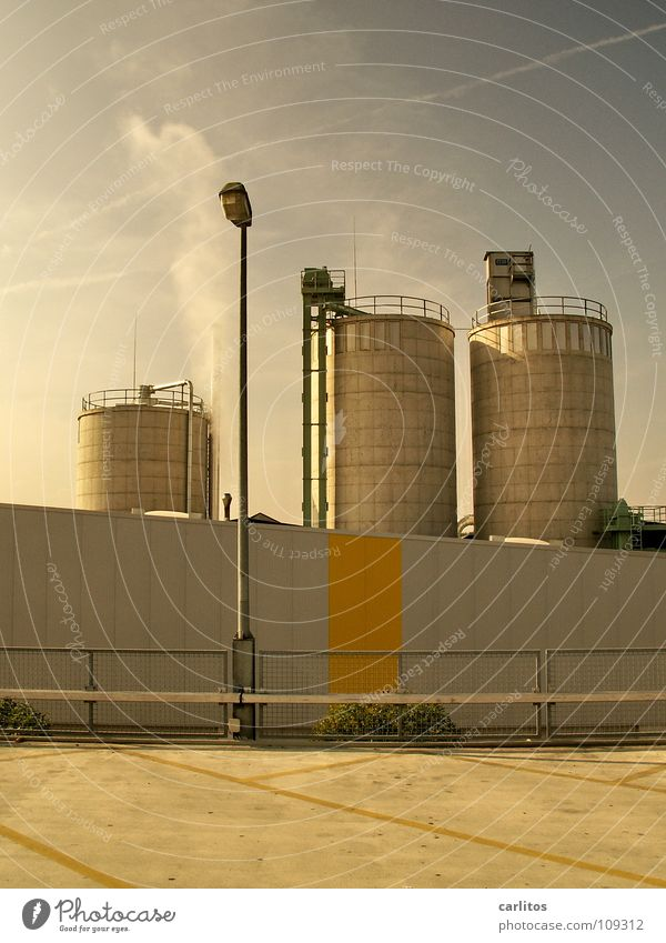 Speicherplatz gelb Linie Schilder & Markierungen Industrie Streifen Gastronomie Lagerhalle Parkplatz Dachboden Silo Bunker Wirtschaftswachstum