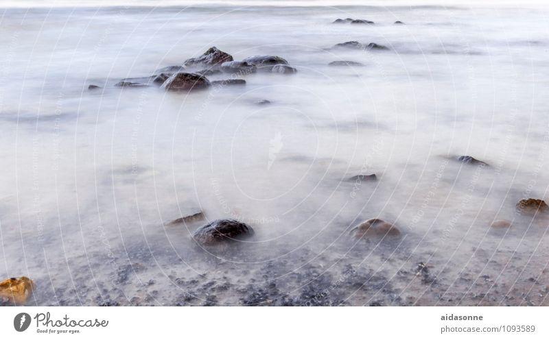 Ostsee Natur Landschaft Wasser Wellen Originalität blau grau Mecklenburg-Vorpommern Deutschland Felsen Stein Langzeitbelichtung NDR ND-Filter Farbfoto