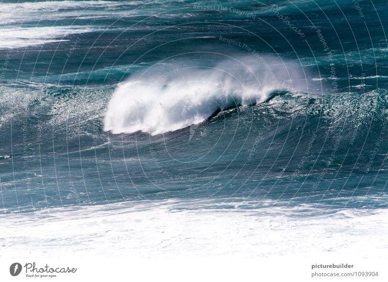 Atlantik blau Wasser Meer glänzend Wellen