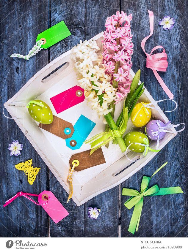Ostern Dekoration basteln Natur blau Pflanze schön grün Blume gelb Innenarchitektur Stil Feste & Feiern Stimmung rosa Lifestyle Wohnung Freizeit & Hobby Design