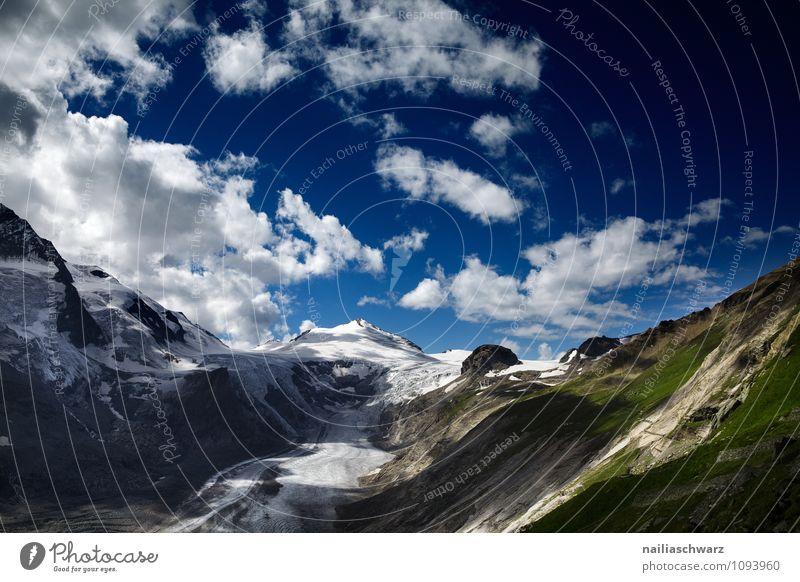 Pasterze Gletscher am Grossglockner Natur blau schön grün Landschaft Wolken Umwelt Wärme natürlich authentisch groß Klima Schönes Wetter Urelemente
