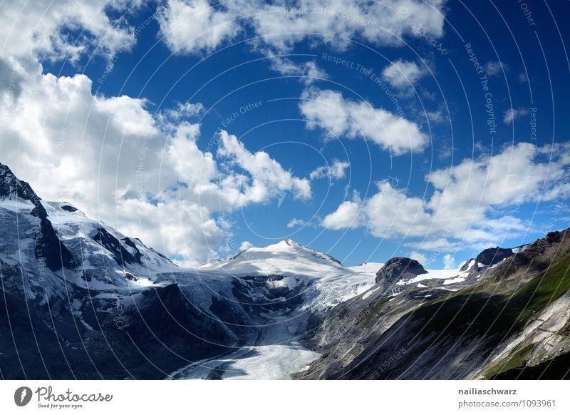 Pasterze Gletscher am Grossglockner Umwelt Natur Landschaft Himmel Klima Klimawandel Schönes Wetter Wärme Alpen Berge u. Gebirge Gipfel Schneebedeckte Gipfel