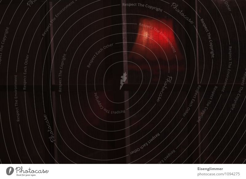 HMV-Red Light dunkel Fenster Raum Strebe Lampenschirm Stehlampe Zimmerlampe