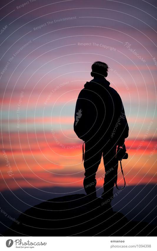 A photographers sunset Mensch Himmel Natur Ferien & Urlaub & Reisen Jugendliche Mann Erholung Einsamkeit Landschaft Freude Junger Mann Ferne Erwachsene