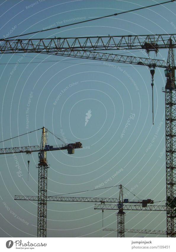 gebrüder krahn 2 Baustelle Vernetzung Industrie Elektrisches Gerät Technik & Technologie Detailaufnahme Himmel Silhouette Kraft Macht