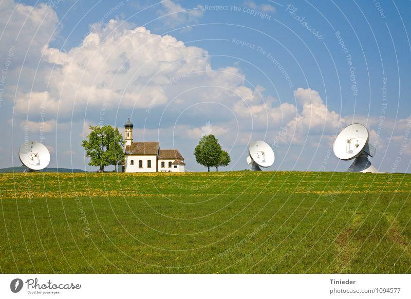 Tradition und Technik Telekommunikation Technik & Technologie Informationstechnologie Raumfahrt Frühling Blume Blüte Fortschritt Religion & Glaube Raisting