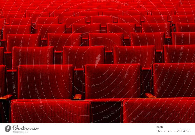 Berlinale Freizeit & Hobby Innenarchitektur Sessel ausgehen Theaterschauspiel Bühne Oper Opernhaus Kino Linie Erholung sitzen rot Kultur Pause Kinosaal