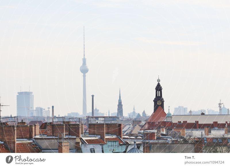 Berlin 2015 Stadt Hauptstadt Stadtzentrum Altstadt Sehenswürdigkeit Wahrzeichen Fernsehturm Farbfoto Außenaufnahme Menschenleer Tag Panorama (Aussicht)
