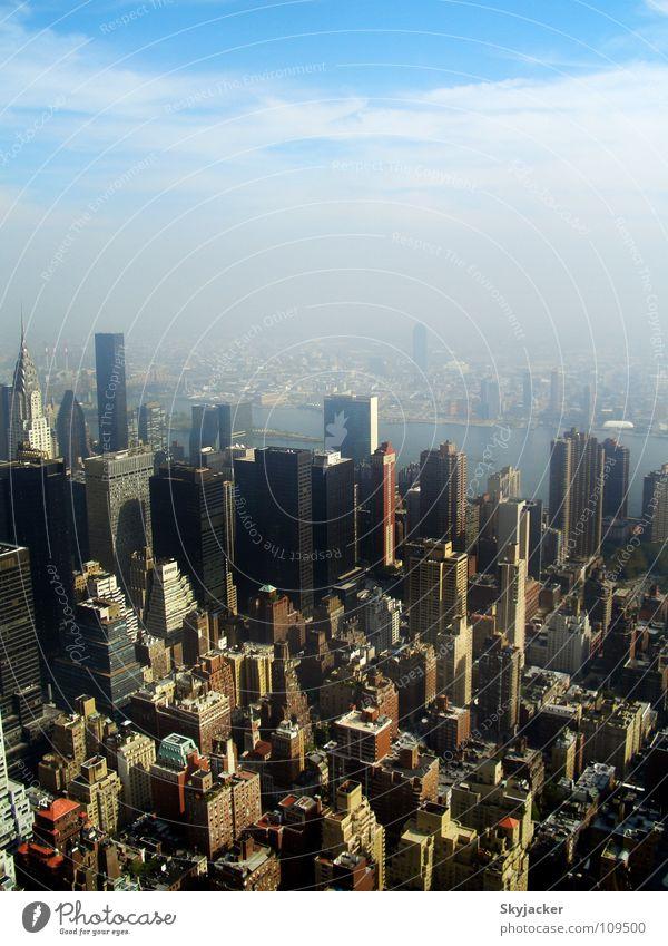 Manhattan Downtown Ferien & Urlaub & Reisen Gebäude Hochhaus USA Aussicht Amerika Stadtzentrum New York City Empire State Building