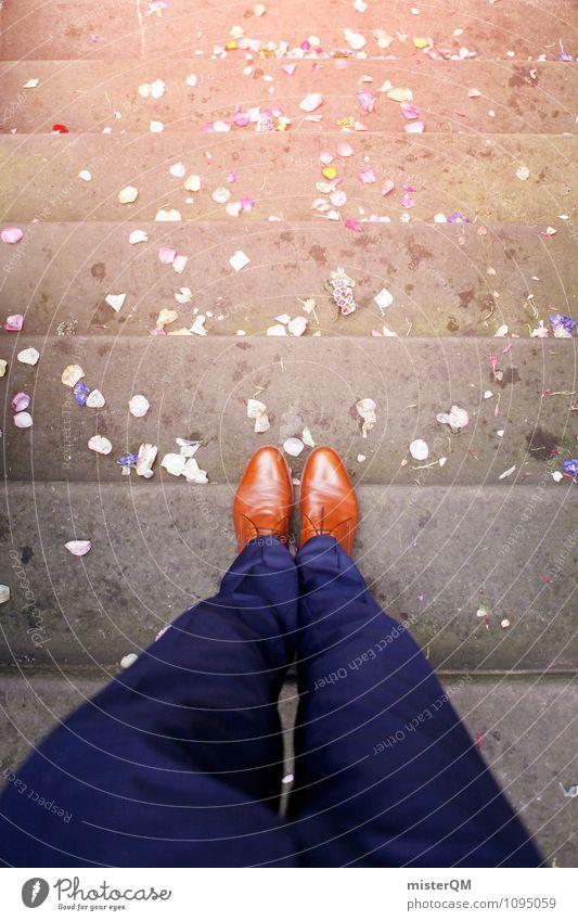 Trau dich! Kunst ästhetisch Zufriedenheit Hochzeit Hochzeitstag (Jahrestag) Hochzeitszeremonie Hochzeitsgesellschaft Schuhe Mode Hose Anzug Treppe Altar Blüte
