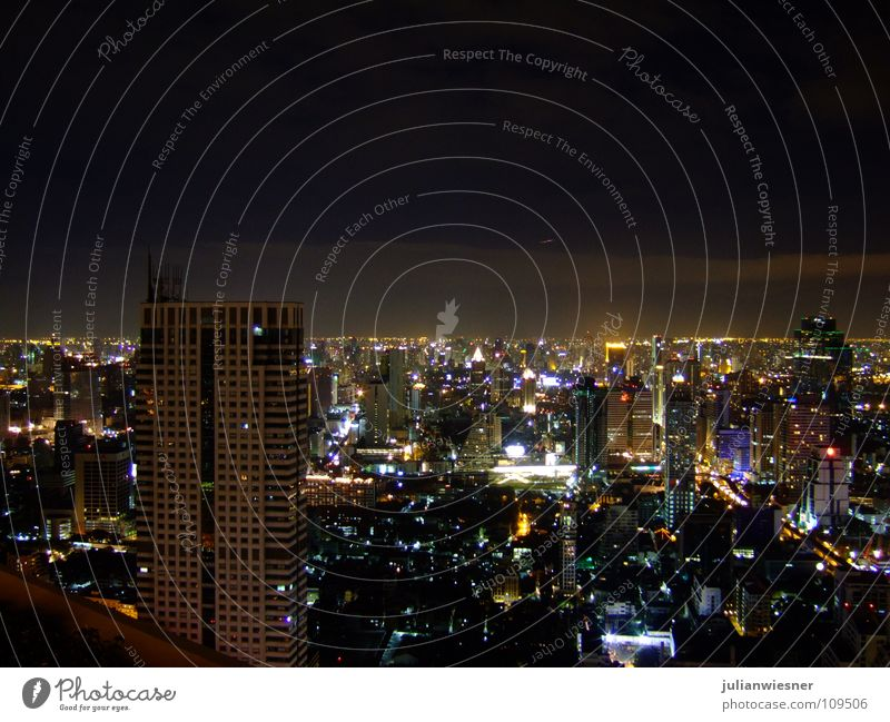 One Night in Bangkok Stadt Hochhaus Asien Skyline Thailand