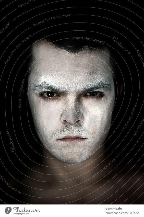 withe! ********************* Mann weiß Farbe schwarz Gesicht Auge dunkel Haare & Frisuren Angst dreckig Mund Haut Nase Trauer Ohr Lippen