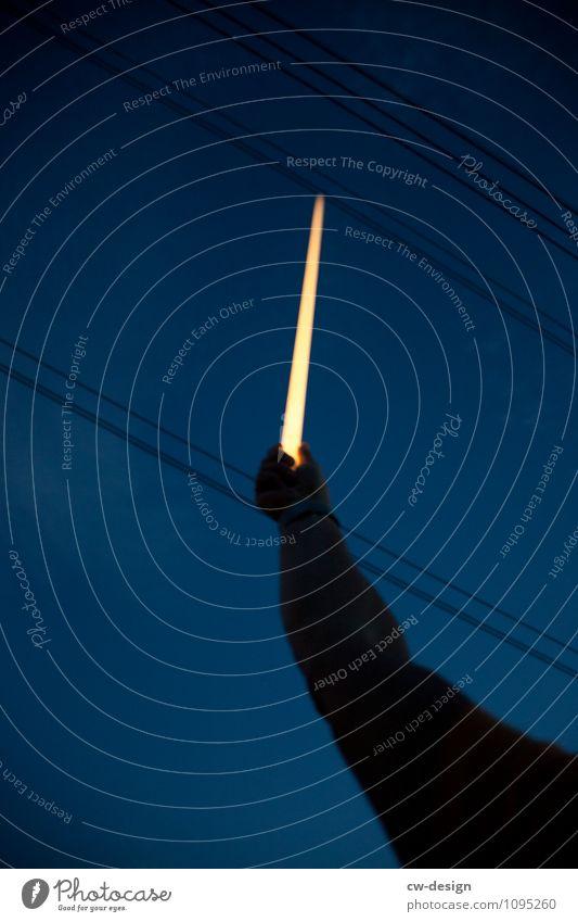 Lichtschwert Kabel Technik & Technologie Wissenschaften Fortschritt Zukunft Energiewirtschaft Erneuerbare Energie Sonnenenergie Mensch maskulin feminin androgyn