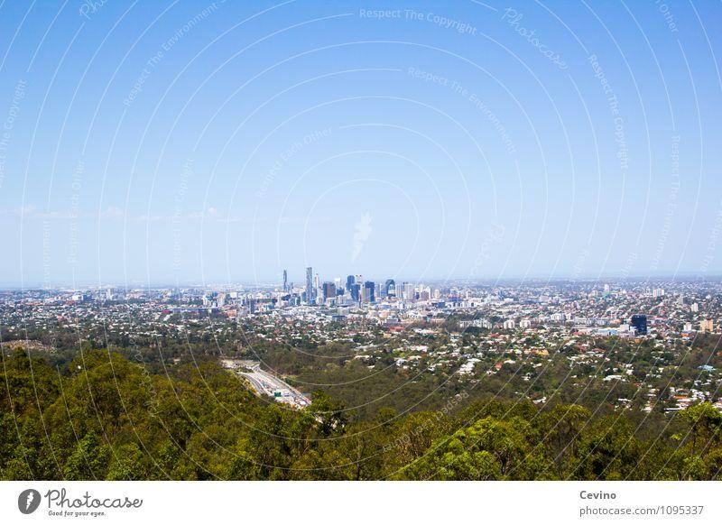 Brisbane Natur Landschaft Wolkenloser Himmel Wetter Schönes Wetter Australien Stadt Haus Hochhaus Bankgebäude Ferien & Urlaub & Reisen Farbfoto Außenaufnahme
