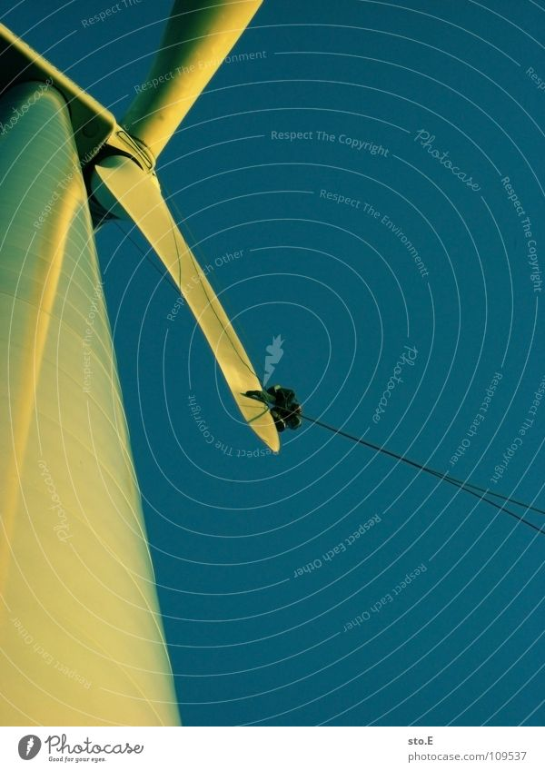 die reparatur Windkraftanlage 3 ökologisch Erneuerbare Energie drehen Kreis Gelände Wiese Feld Ferne Horizont Sonnenuntergang rot Arbeit & Erwerbstätigkeit