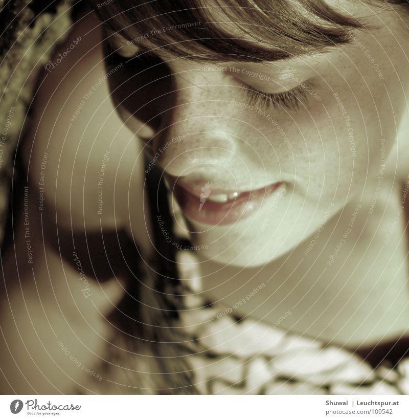 no one can ever say it's true Frau Jugendliche schön ruhig Mädchen Gesicht Auge lachen Lifestyle Haare & Frisuren Kopf Zufriedenheit Kindheit Haut Mund Nase