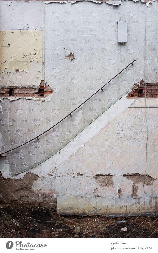 Luft nach oben Haus Baustelle Architektur Mauer Wand Treppe ästhetisch Ende Hilfsbereitschaft einzigartig Problemlösung Nostalgie planen skurril
