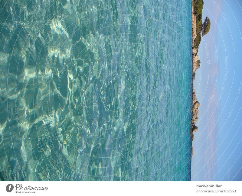 *BAY WATCH* Wasser Baum Meer blau Strand Ferien & Urlaub & Reisen Sand Bucht Korsika