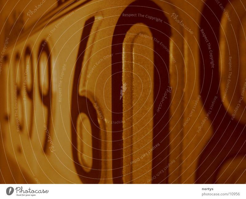 Nummer 6 Nummernschild KFZ Adjektive Dinge Schilder & Markierungen