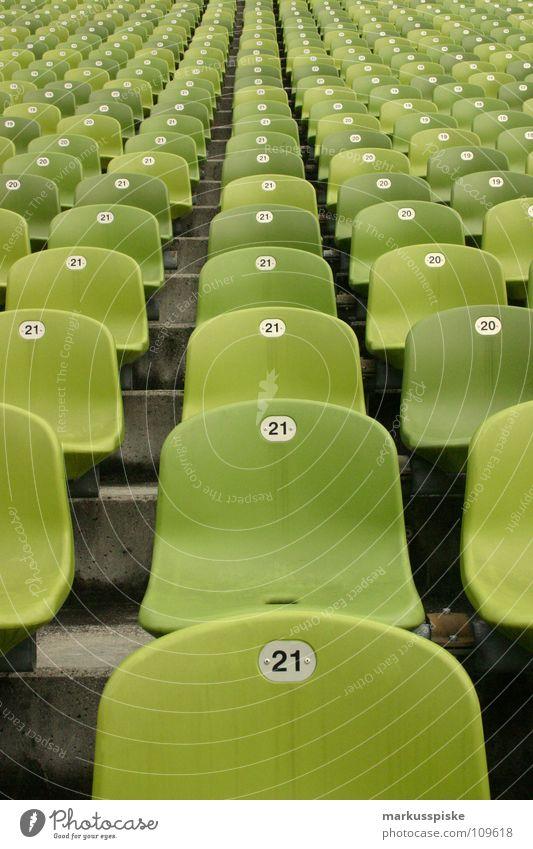 take a seat grün Fußball Erfolg Platz Ziffern & Zahlen Tor Statue Publikum kämpfen Fan Sitzgelegenheit Schalen & Schüsseln Stadion Begeisterung Sport 21