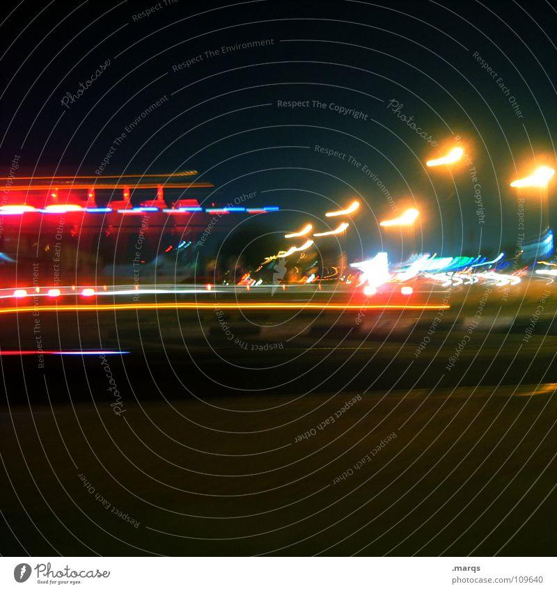 Emergency in Dubai Nacht dunkel Langzeitbelichtung Alarm Notarzt Unfall Notfall Notsituation Geschwindigkeit Wagen Aktion Öffentlicher Dienst Angst Panik Abend