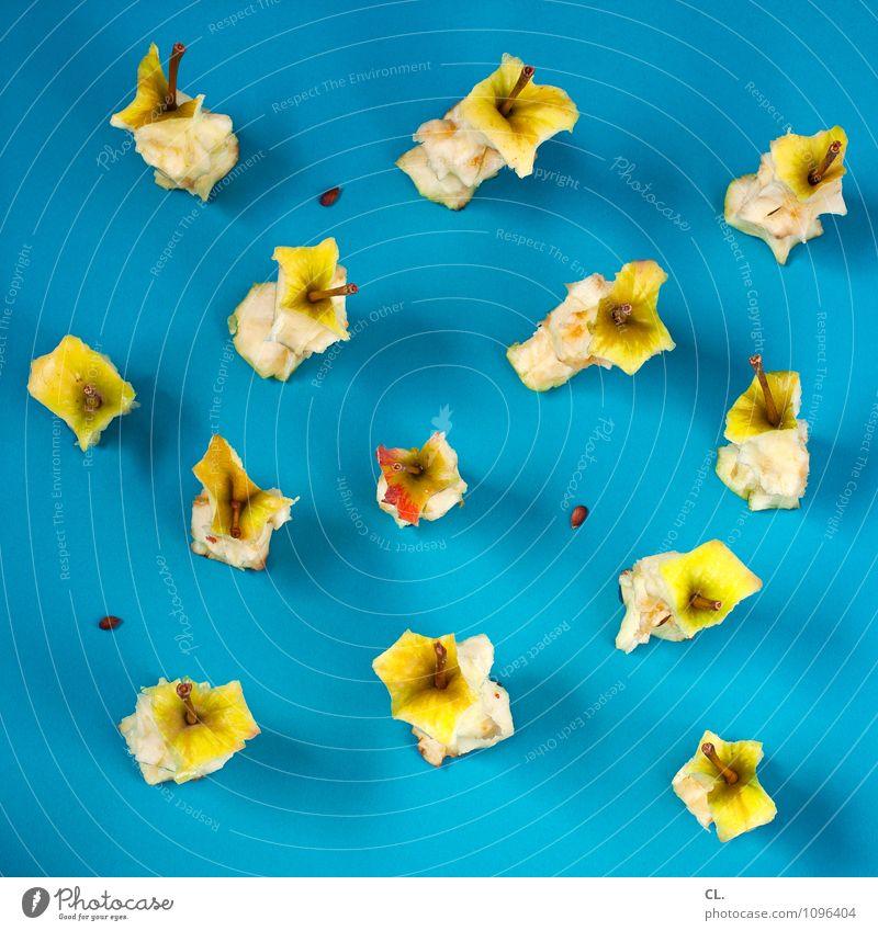 resteverwertung blau gelb Essen Gesundheit Lebensmittel Frucht Design frisch Fröhlichkeit ästhetisch Ernährung Kreativität genießen lecker Bioprodukte Apfel