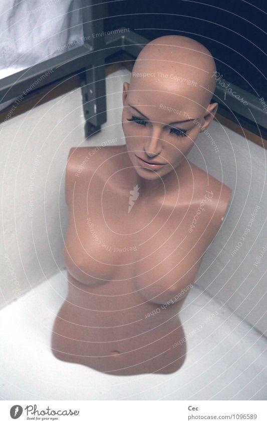 Komm bald wieder schön feminin Frau Erwachsene Kopf Frauenbrust Glatze Wimpern Schaufensterpuppe ästhetisch kalt nackt Langeweile Unlust Sehnsucht Einsamkeit