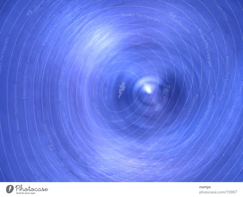 Swirl Aluminium Furche Makroaufnahme Nahaufnahme Metall Kreis blau blue