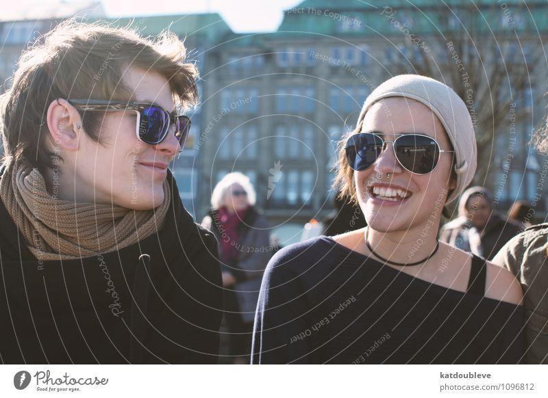 you got the love I need to see me through Mensch feminin androgyn Homosexualität Lächeln lachen Liebe Blick authentisch Coolness Freundlichkeit Zusammensein