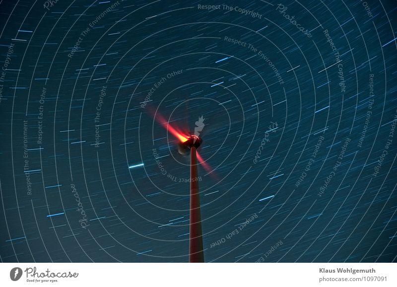 Warp Antrieb ( Sirius huscht vorbei ) Himmel blau weiß rot Winter schwarz Frühling Gebäude Energiewirtschaft Technik & Technologie Zukunft Stern Windkraftanlage