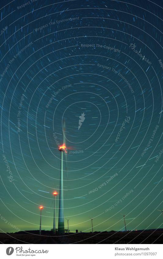 Variationen 1 Technik & Technologie Wissenschaften Fortschritt Zukunft Energiewirtschaft Erneuerbare Energie Windkraftanlage Umwelt Landschaft Himmel