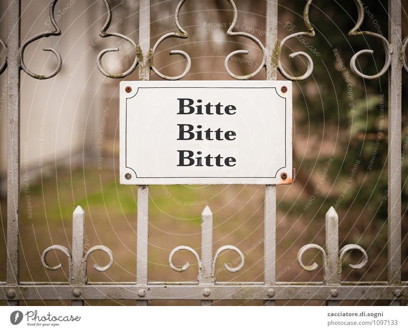 Bitte Ausfahrt freihalten Tor Zaun Metall Schriftzeichen Schilder & Markierungen Hinweisschild Warnschild außergewöhnlich einfach Freundlichkeit Fröhlichkeit