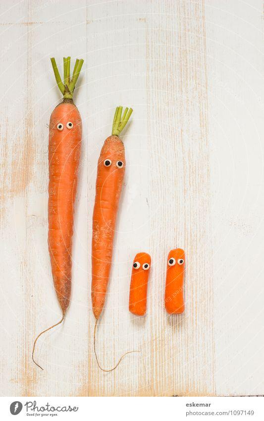 Möhrenfamilie Mensch Frau Kind Mann weiß Mädchen Erwachsene lustig Junge Menschengruppe Familie & Verwandtschaft orange Baby Mutter Gemüse Kleinkind