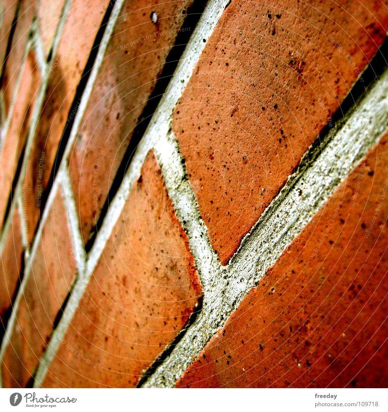 ::: Stein auf Stein ::: Hausbau Mauer Handwerk Wand rot Backstein Schaufel Mörtel Zement Wiedervereinigung Hintergrundbild Handwerker schwer Halt Grenze unten