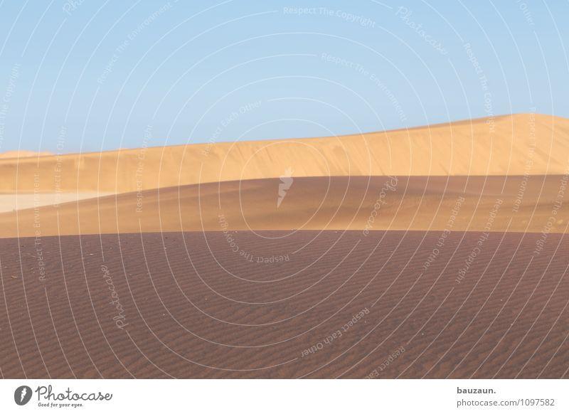 sandig. Ferien & Urlaub & Reisen Tourismus Ausflug Abenteuer Ferne Freiheit Sightseeing Umwelt Natur Landschaft Erde Sand Himmel Wolkenloser Himmel Sonne Sommer