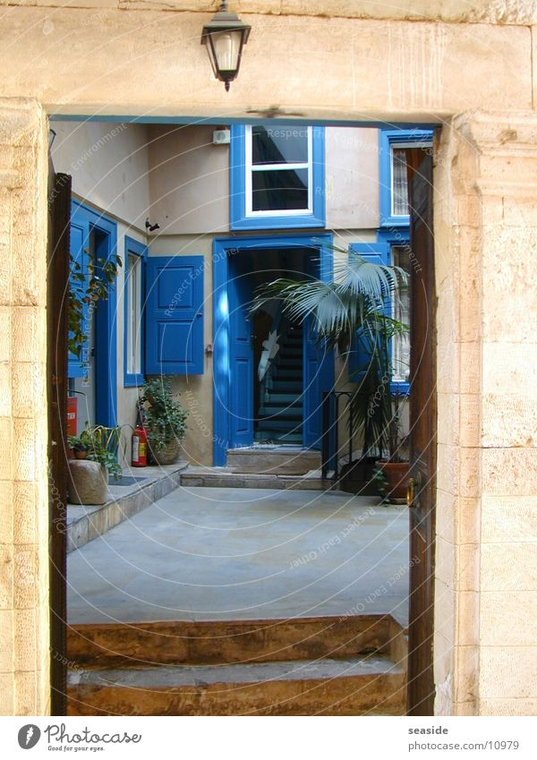 Blaue Tür blau Architektur Griechenland Kreta