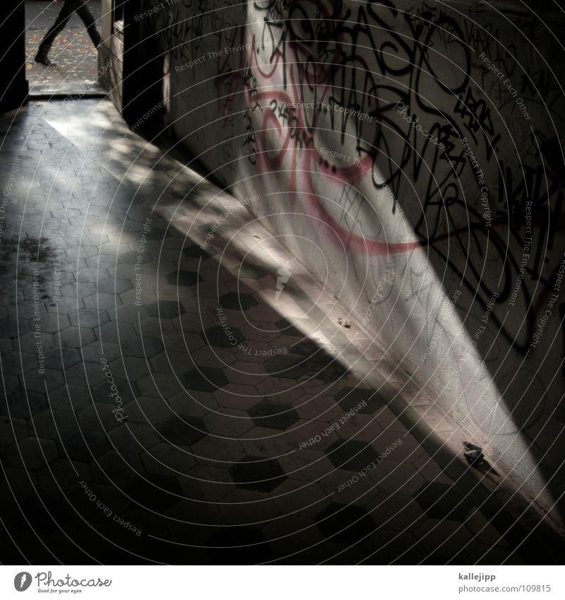 please don´t go schwarz Architektur Stein Tür offen laufen Spaziergang Bürgersteig Ladengeschäft Eingang Straßenbelag Pflastersteine Fußgänger Osten Kriminalität Ausgang