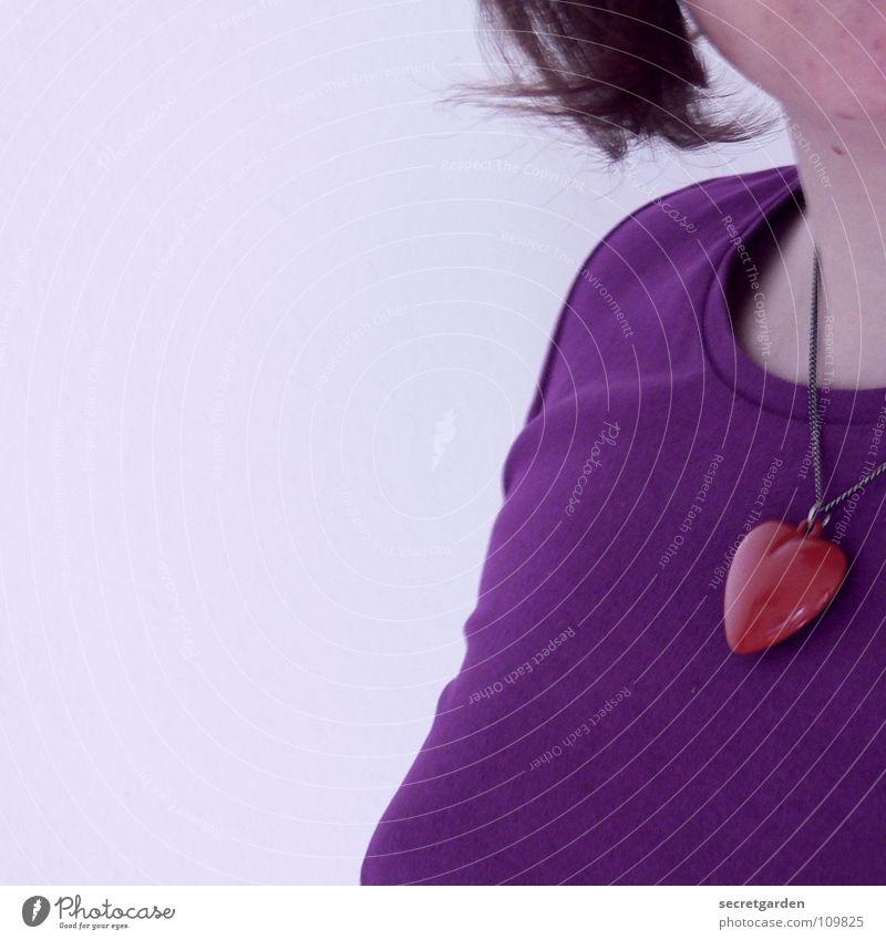 violetta III Frau Mensch weiß rot Liebe kalt Wand Haare & Frisuren Kunst Raum Herz Bekleidung Dekoration & Verzierung T-Shirt Kitsch