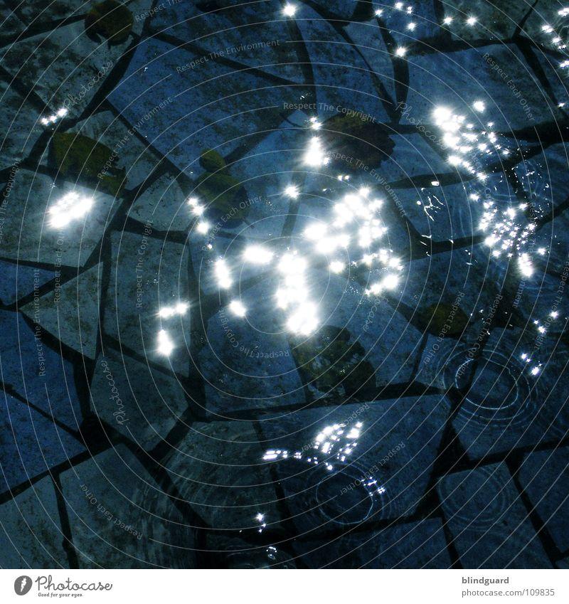 Like Stars Licht Mosaik dunkel fließen nass Langzeitbelichtung Schifffahrt Meer water dark sun light Reflexion & Spiegelung reflection Wasser Stern (Symbol)